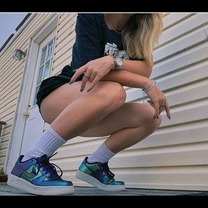 Nike Air Force 1s holographic, brand new with box